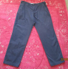 Marks and Spencer Dark Blue Cotton Chinos W36 L31