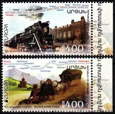 ARMENIA ARTSAKH / KARABAKH 2020-03 EUROPA: Old Postal Routes. Train Horse, MNH