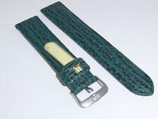 Di-Modell Genuine Shark Leather 20 mm DARK GREEN Waterproof Watch Band SHARKSKIN