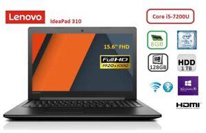 LENOVO 310, i5-7200U, 8 GB, 1TB HDD, 128GB SSD, 15.6'' FullHD, Win10 Pro