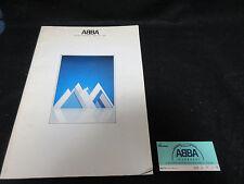 ABBA 1980 Japan Tour Book Concert Program w Ticket Frida Benny Bjorn Hep Stars