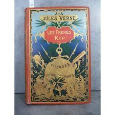 Hetzel Jules Verne les frères kipp cartonnage globe doré dos au phare Voyages ex