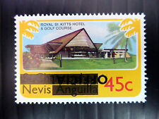 NEVIS 1980 - 45c OFFICIAL Inverted/OPT SG05a U/M NEW LOWER PRICE FP4588