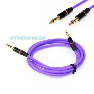 3.5MM AUX AUXILIARY STRAIGHT AUDIO CABLE PURPLE FOR LUMIA 1520 Q10 Z10 Z30 DROID