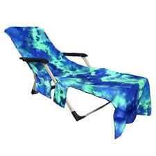 New listing New Microfiber Beach Pool Sun Lounge Beach Chair Towel Carry Pockets Bags
