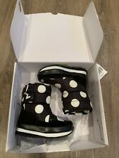 J.Crew Crewcuts Toddler Rubber Duck Snowjoggers Size Us9 White Polka Dot On Blac