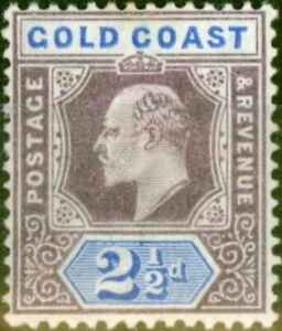 Gold Coast 1906 2 1/2d Dull Purple & Ultramarine SG52 Fine Very Lightly Mtd Mint