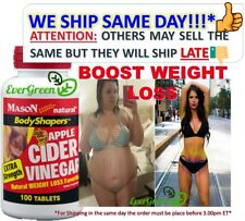 HIGH POTENCY APPLE CIDER VINEGAR 1000mg X/S PURE DIET WEIGHT LOSS PILLS 100 TABo