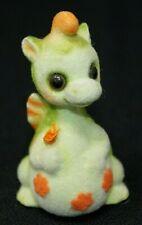 "New ListingVtg Josef Original George Good Japan Flocked Fuzzy Dragon w/ Flower, 3"" Tall"
