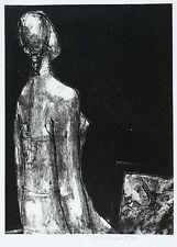 Hans Theo giudici-pittore e modello a scuro motivo-LITOGRAFICO 1957