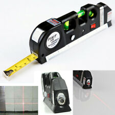 8FT Multifunction Level Laser Horizon Vertical Measure Tape Metric Ruler Tool