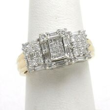 Vintage 14k yellow gold Diamond engagement ring 1.05 carat Vintage square Estate