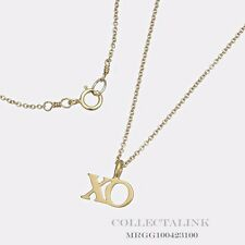 """Authentic Dogeared Gold Dipped Hugs & Kisses XO Necklace 16"""" MRGG100423199"""