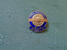 OLD LONDON TRANSPORT CENTRAL ROAD SERVICES BOWLING CLUB - ENAMEL BOWLS PIN BADGE