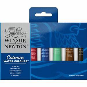 Winsor & Newton Cotman Acquerello Set Pittura 6 X 8ml