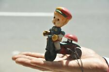 Vintage Wind Up Litho Tricycle Tin & Celluloid Toy , Japan?