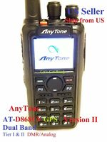 AnyTone AT-D868UV GPS Ver II + USB cable + Mic Dual Band Analog/DMR   US seller