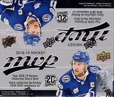 2018-19 Upper Deck MVP Hockey sealed retail box 36 packs of 5 NHL cards