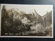 Postcard RPPC Real Photo Mt. Robson Monarch of the Rockies Jasper National Park
