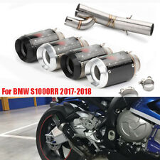Motorcycle Exhaust System Middle Link Pipe Tip Baffler For BMW S1000RR 2018 2017