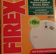 2 X FIREX KF20 Smoke Alarms Optical