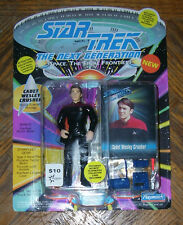 "Star Trek CADET WESLEY CRUSHER 4.5"" Action Figure 1993 5+ Carded Playmates"