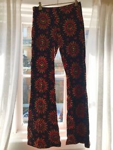 Motel Sun and Moon Patterned Flare pants Size L