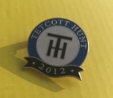 Placa de esmalte de caza Foxhound tetcott Hunt - 2012