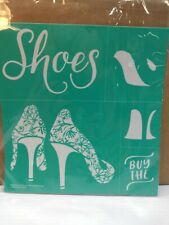 Chalk Couture RETIRED Buy the Shoes Size B reusable Transfer