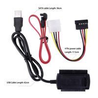 SATA/PATA/IDE auf USB 2.0 Adapter Konverter Kabel für 2,5/3,5 Zoll Festplatte