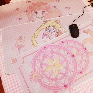 Anime Sailor Moon Pink Large Mouse Pad Card Captor Sakura Computer Keyboard Mat