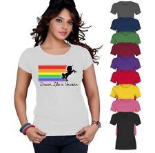 Dream LIke A Unicorn Top Printed TShirt Womens Short Sleeve Tee