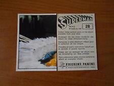 FIGURINA SUPERMAN n.28  ED.PANINI 1978 - COMPLETA DI VELINA