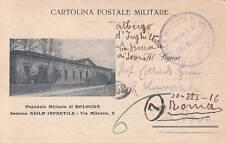A6777) WW1 FRANCHIGIA PRIVATA OSPEDALE MILITARE DI BOLOGNA SEZ. ASILO INFANTILE