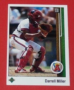 DARRELL MILLER LOS ANGELES ANGELS BASEBALL CARD UPPER DECK USA 1989