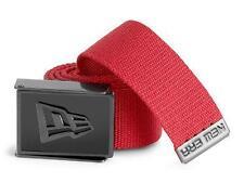 New Licensed New Era Enamel Logo Buckle Belt Red Adjustable Last Ones! ga
