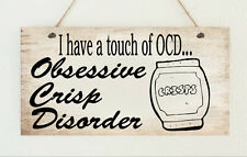Crisp Lover OCD Crisps Food Obsessed Funny Plaque Gift Present Family Friend