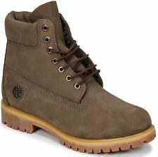 Timberland 6 Inch Premium Olive Mens Leather Boots
