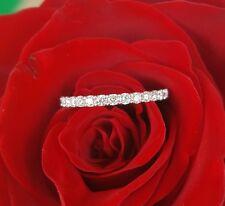 0.35tcw Diamond & 18ct White Gold 2mm Half Eternity Wedding Band Ring US 5.5 CTJ