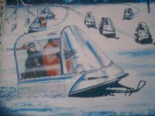 1971 Vintage SNO DOME Snowmobile Brochure SKI DOO Evinrude