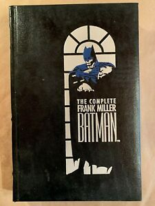 THE COMPLETE FRANK MILLER BATMAN 1989 1ST PRINT Leather Bound Hard cover VF+