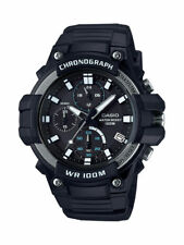 Casio MCW110H-1AV, Chronograph Watch, Black Resin Band, 100 Meter WR, Date