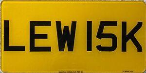UK British Rear Vanity Personalised Number License Licence Plate LEW 15K