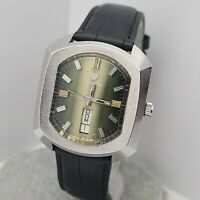RARE Vintage Nivada mustang 74 Men's Automatic watch FHF 908 swiss made 1970s
