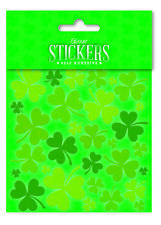Irish Green Multi Shamrock Glitter Scrapbook Sticker Set