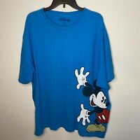 Disney Mickey Mouse Men's Blue Graphic T-Shirt - Short Sleeve - Size 3XL
