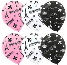 A Day in Paris Latex Balloons Bridal Shower Wedding Anniversary Party Decoration