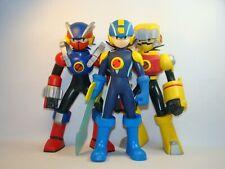 "MegaMan NT Warrior lot of 3 10"" figures, GutsSoul, MetalSoul, & MegaMan 2004"