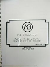 Mb Dynamics Model 101 5cfg5cpg Igniter Circuit Tester Manual