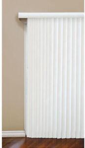 Vertical Blind 104 x 84 In. Crown White Room Darkening Louvers Window Treatment